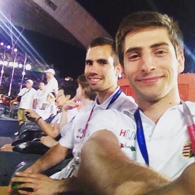 Dani Áron(elöl) és Csere Gáspár(hátul)