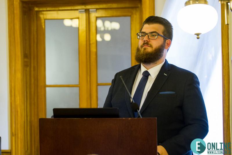 Murai László (BTK), az ELTE HÖK megválasztott elnöke. Kép: Vörös Tamás (ELTE Online)