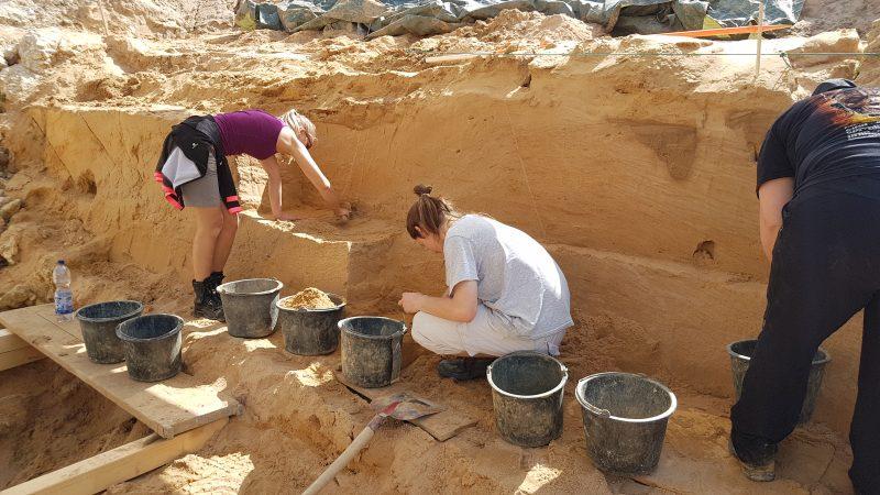 Az ásatás helyszíne. Forrás: Bastian Lischewsky