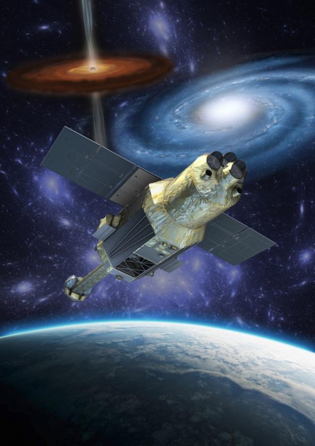 A Hitomi műhold fantáziarajza. forrás: JAXA