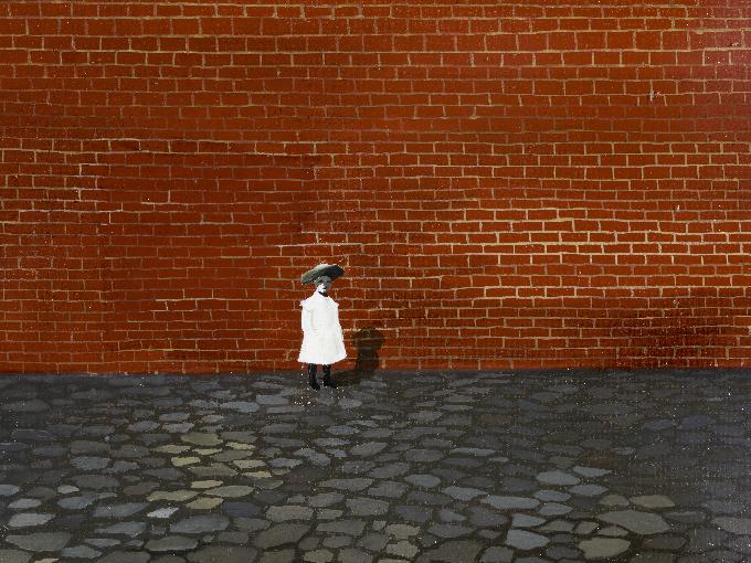 Ország Lili: Önarckép (Kislány fal előtt) – 1955