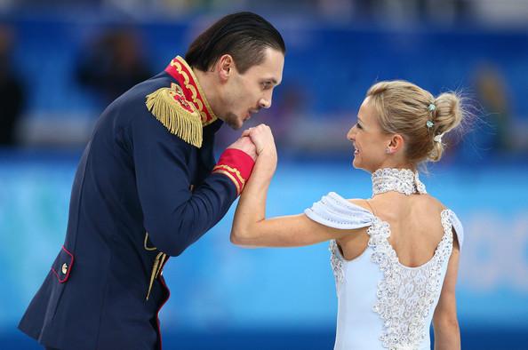 Maxim Trankov és párja, Tatiana Volosozhar (forrás: zimbio.com)