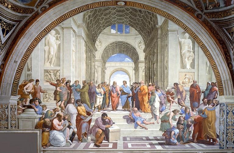 Raffaello - Az athéni iskola