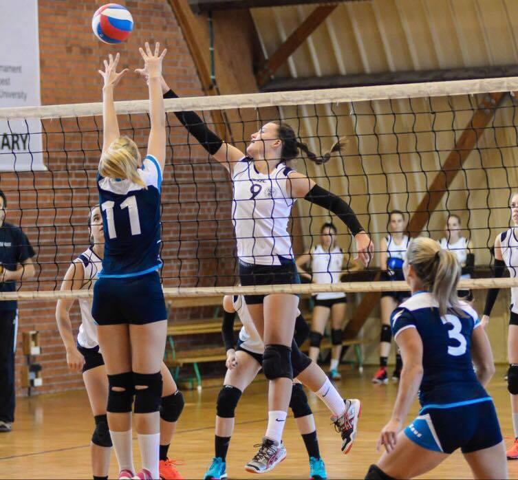 Kiss Laura örül a vasárnapi mérkőzésen nyújtott teljesítményüknek. Fotó: Hungary Sport
