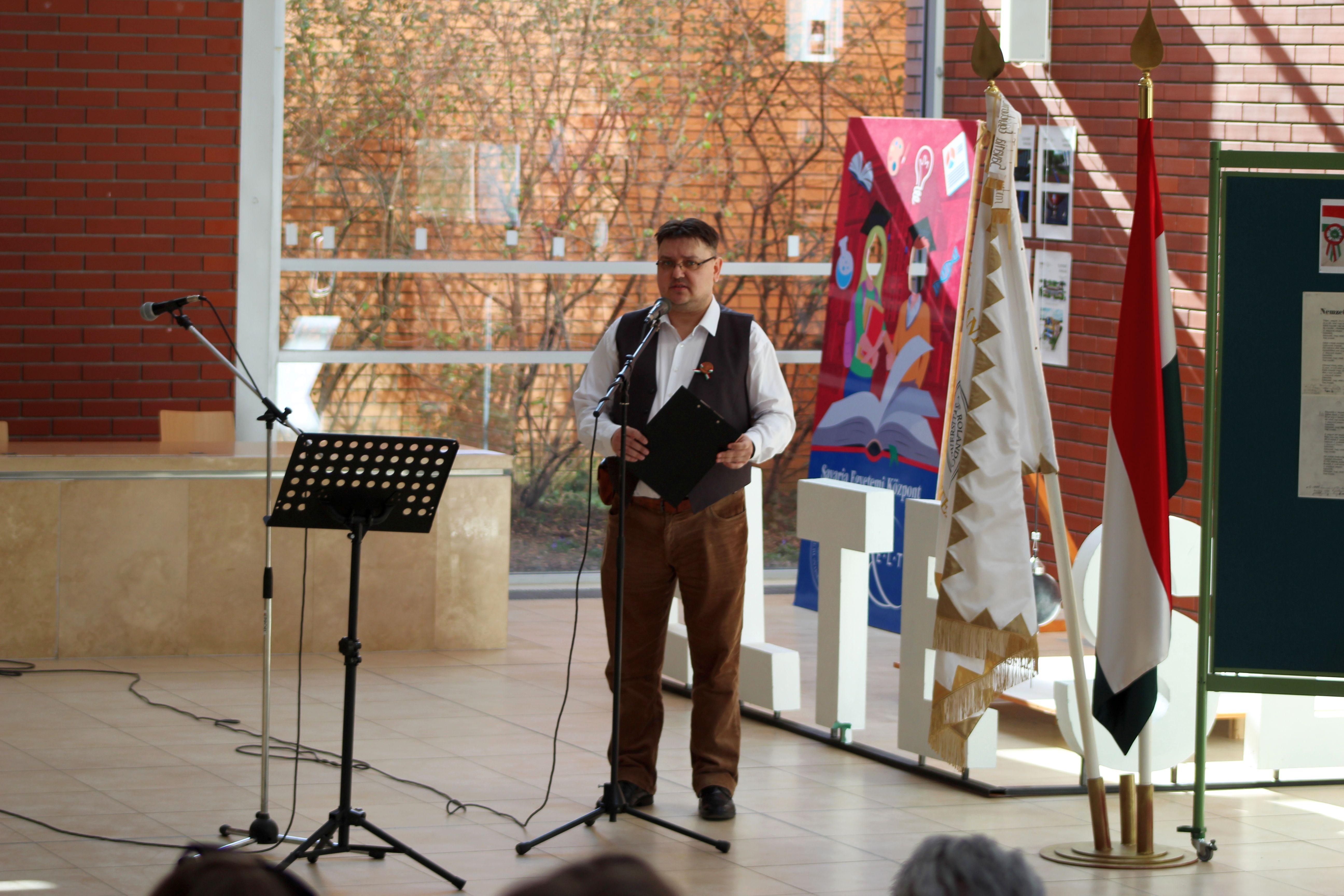Március 15-i ünnepség a Savaria Egyetemi Központban (14)