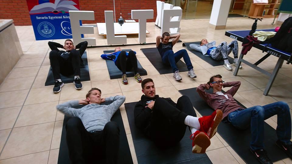 Hallgatóink nagyon aktívak voltak a Legizmosabb Egyetem kihívásán! Fotó: Hurtik Péter