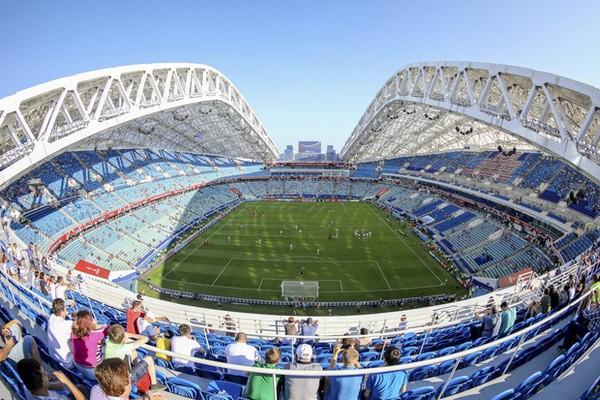 """A Téli Olimpia """"stadionja"""" 43 000 fős kapacitású. Kép: Google"""