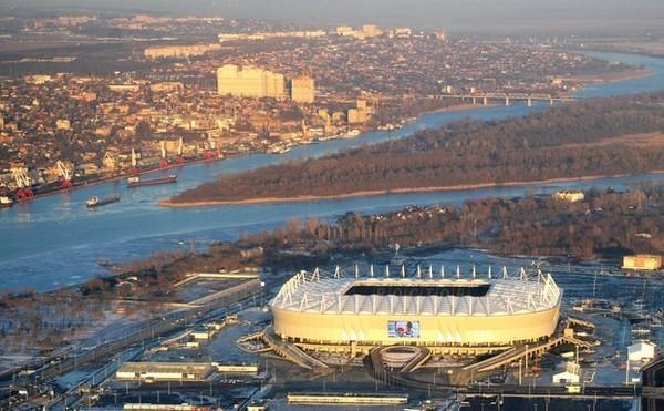 Rosztovban a stadiont 2015 elején kezdték el építeni. Kép: Google