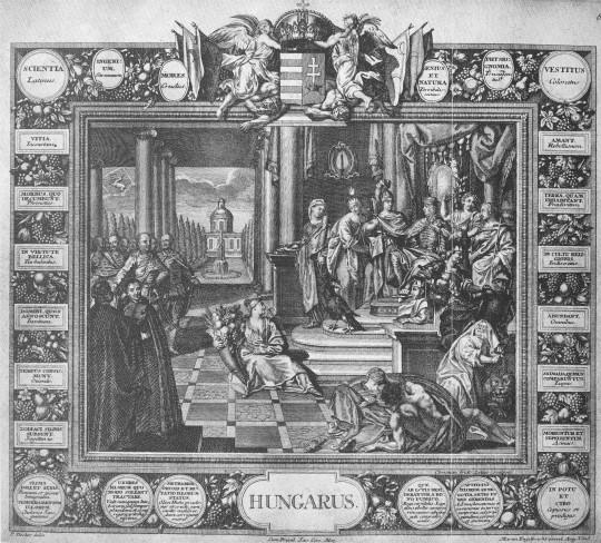 A magyar ember jellmezése a XVIII. századi felfogásban. 1730–1740 között készült rézmetszet (mek.oszk)