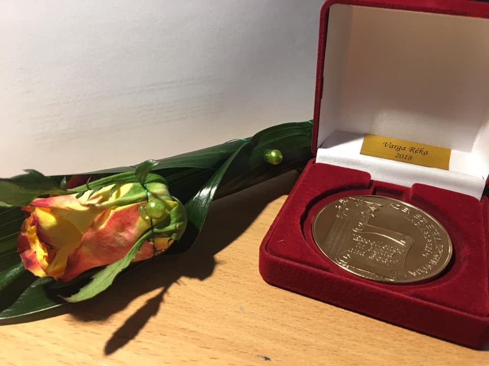Varga Réka a 2018-as év női Egyetemi Sportolója! Fotó: Facebook