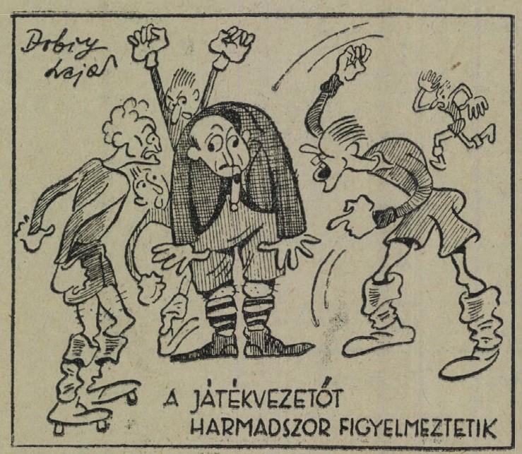 A Sporthírlap karikatúrája