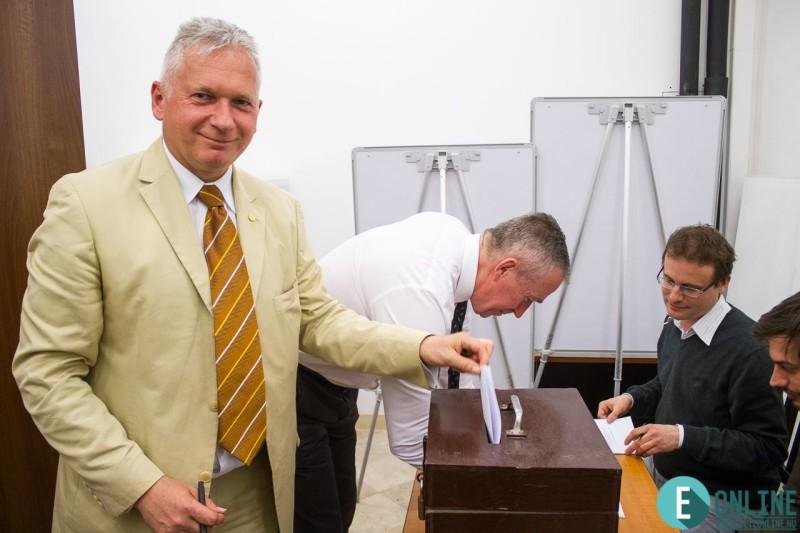 Borhy László a 2017-es rektorválasztáson