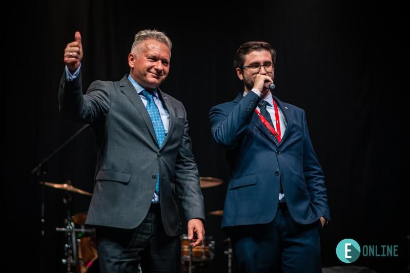 Horváth Mihály HÖK-elnökkel a 2019-es gólyabálon