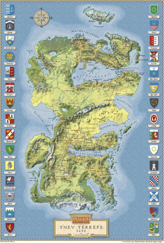 YNEV térkép (államok) PNG