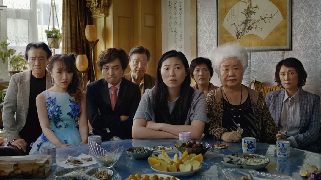Jian Yongbo, Kmamura Aio, Chen Han, Tzi Ma, Awkwafina, Li Ziang, Tzi Ma, Lu Hong and Zhao Shuzhen appear in a still from The Farewellby Lulu Wang, an official selection of the U.S. Dramatic Competition at the 2019 Sundance Film Festival. Courtsey of Sundance Institute   photo by Big Beach All photos are copyrighted and may be used by press only for the purpose of news or editorial coverage of Sundance Institute programs. Photos must be accompanied by a credit to the photographer and/or 'Courtesy of Sundance Institute.' Unauthorized use, alteration, reproduction or sale of logos and/or photos is strictly prohibited.