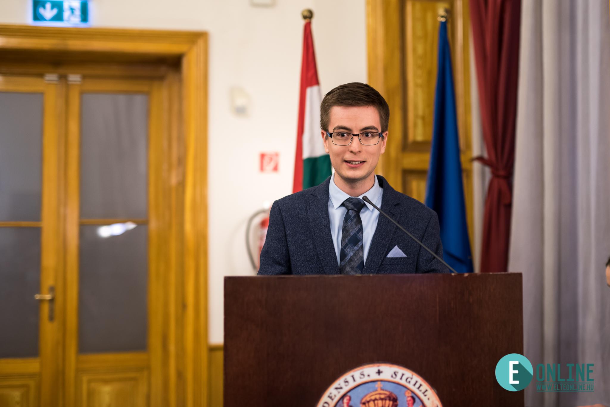 Blankó Miklós, az ELTE Online főszerkesztője.
