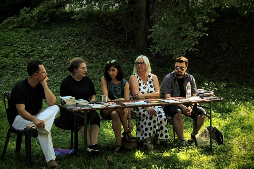 (balról jobbra:) Balogh Endre, Eszenyi Fanni, Seres Lili Hanna, Péczely Dóra, Nyerges Gábor Ádám